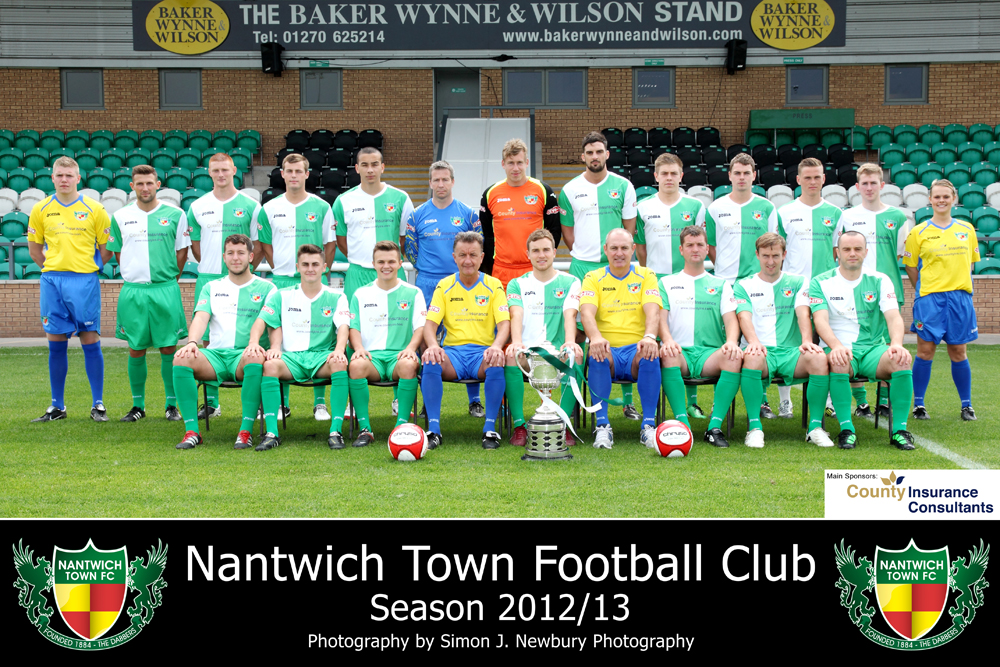 Nantwich Town Football Club Squad Photo 2012 - 2013