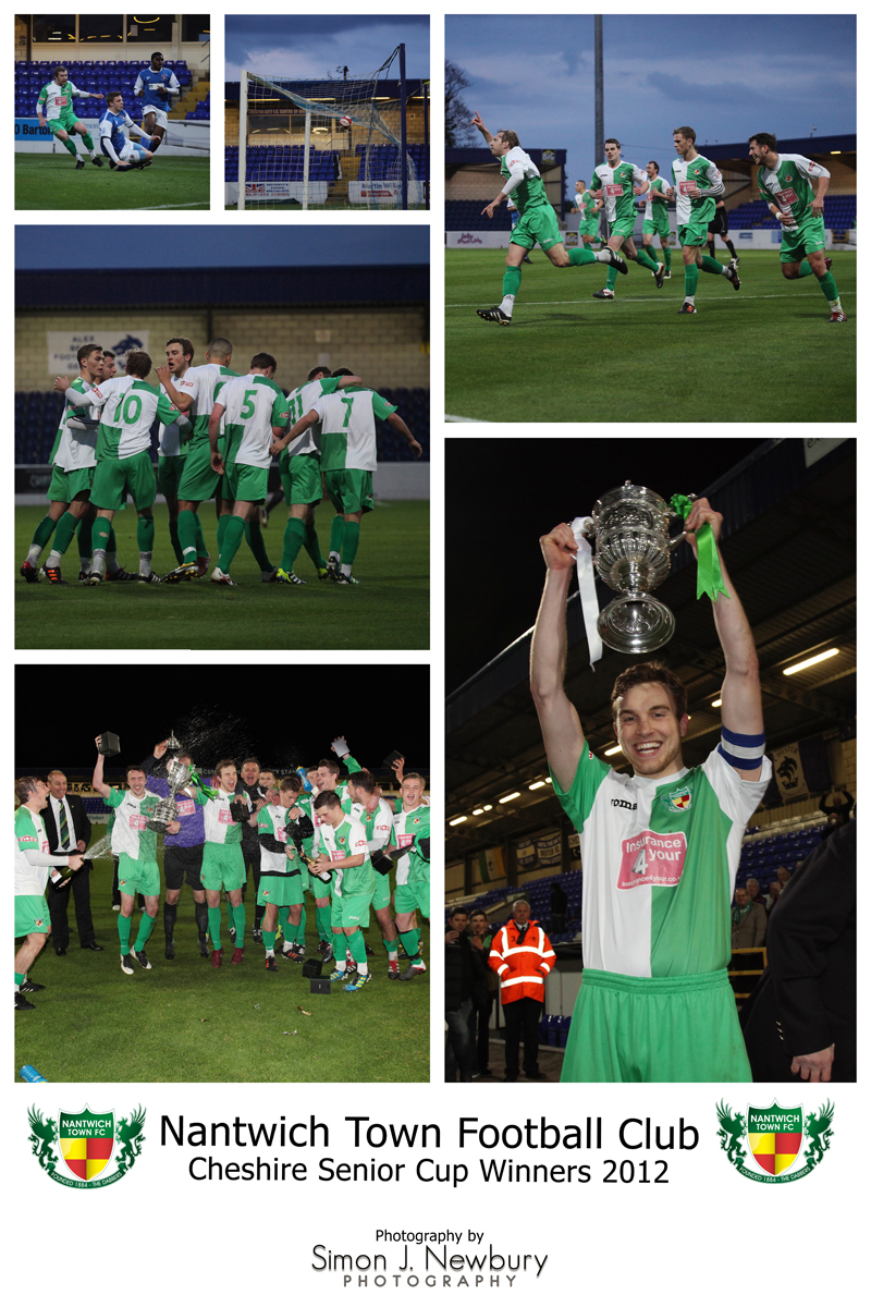 Nantwich Town FC Cheshire Senior Cup Winners
