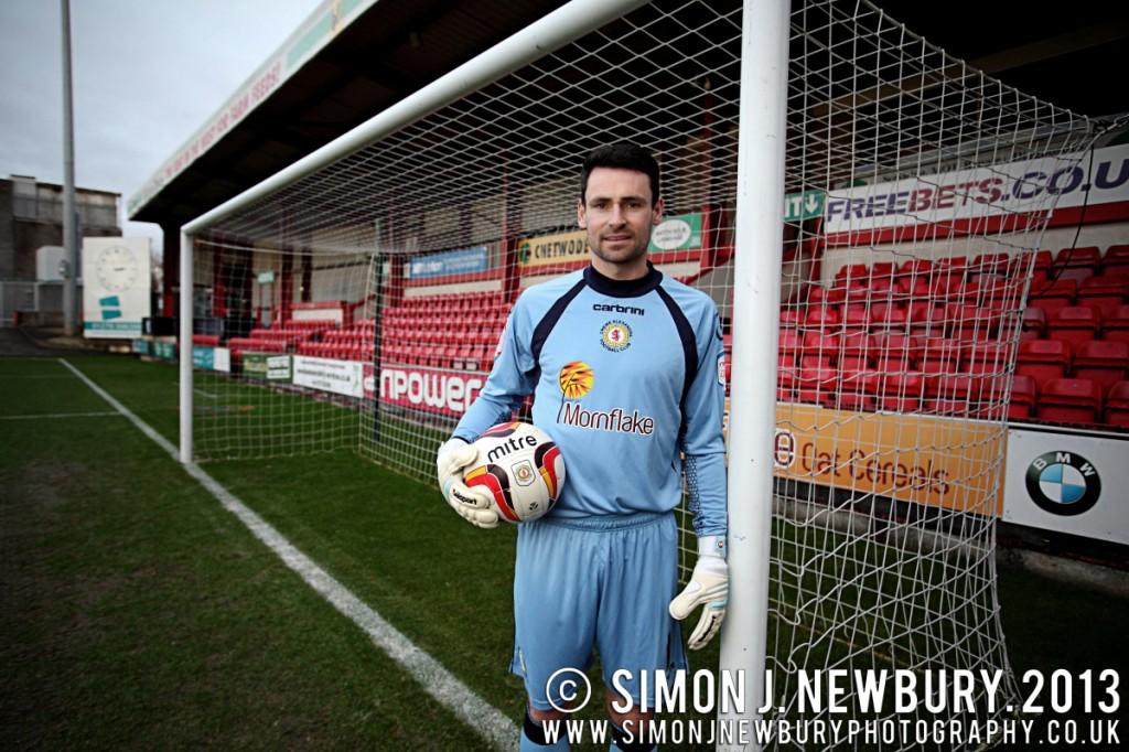 Portrait of Crewe Alexandra goalkeeper Steve Phillips by SImon J. Newbury Photography