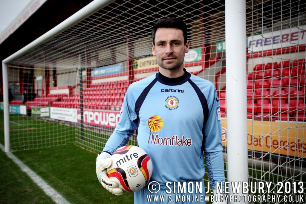 Portrait of Crewe Alexandra goalkeeper Steve Phillips by SImon J. Newbury Photography