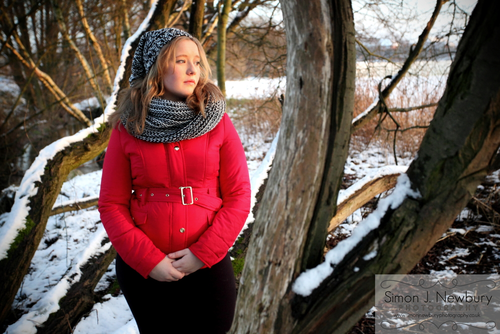 Winter Portrait of Aimee in Alsager, Cheshire