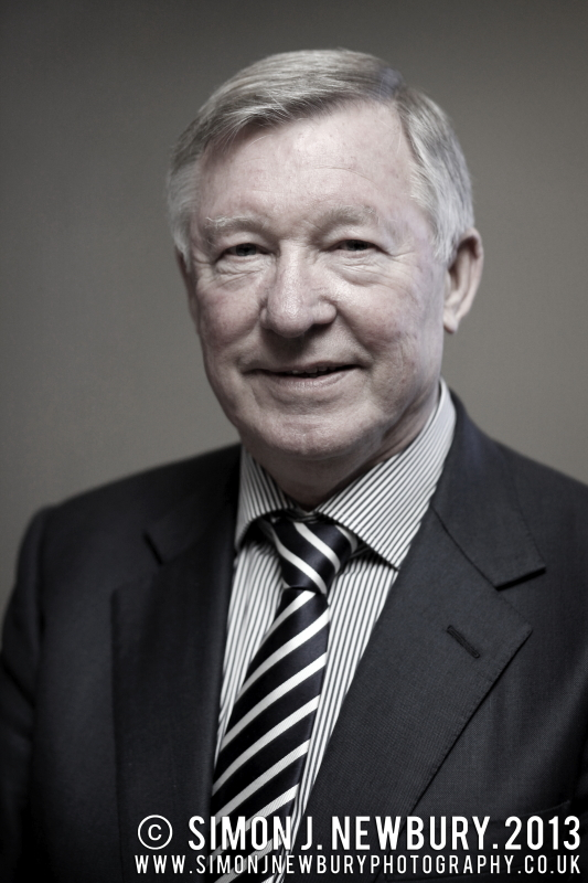 Sir Alex Ferguson Portrait Simon J. Newbury Photography Manchester United. Cheshire portrait photography