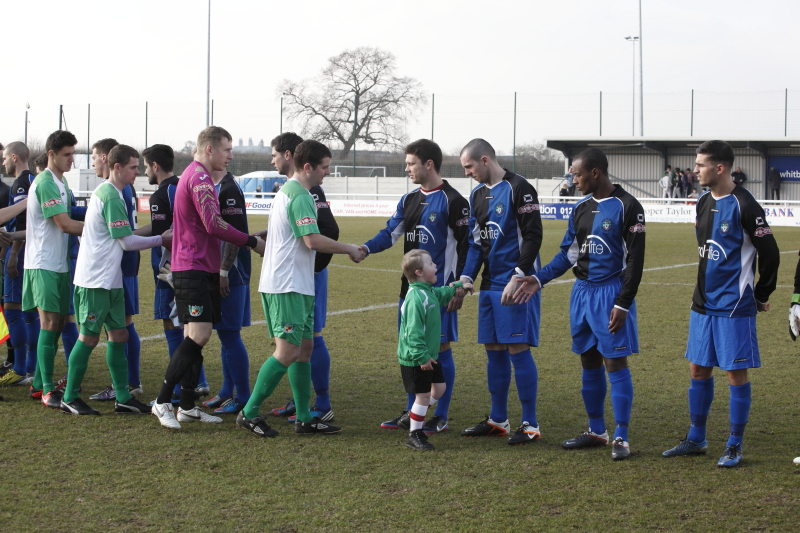 Adam as mascot at Nantwich Town FC