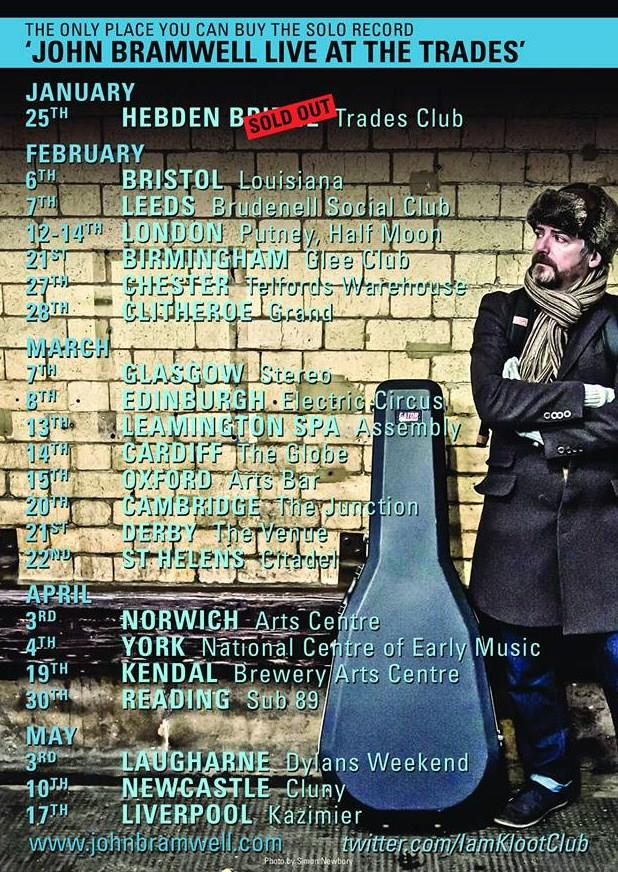 John Bramwell Tour Poster