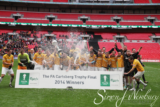 Professional press photographer based in Cheshire. FA Trophy Final 2014 - Cambridge United v Gosport Borough