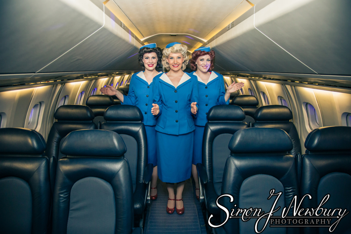Siren Sisters at Concorde Hangar, Manchester Airport. Cheshire music promo photography. Cheshire photographer