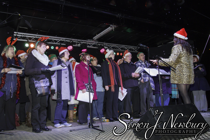 Press Photography: Crewe Christmas Lights Switch-On. Cheshire photography by Simon J. Newbury Photography. Cheshire press photographer. Crewe press photography