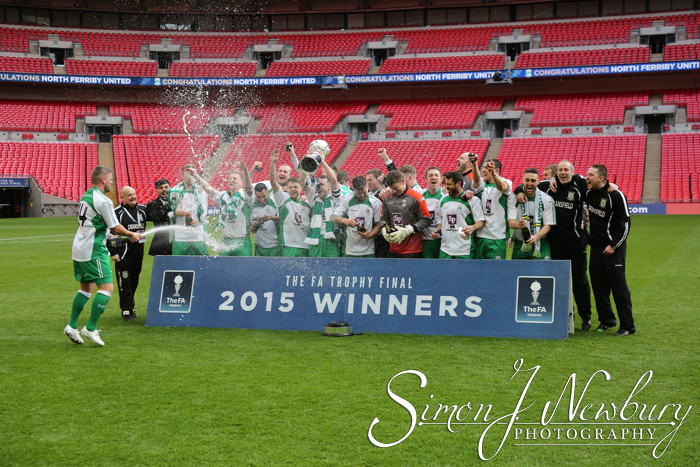 FA Trophy Final Football photography North Ferriby v Wrexham