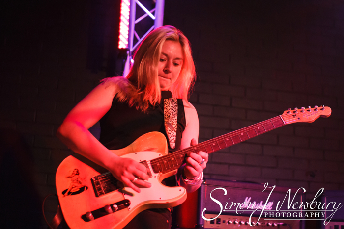 Chester, UK. 2nd April 2015. Joanne Shaw Taylor performing live at The Live Room's in Chester © Simon Newbury/Alamy Live News