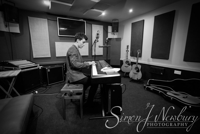 Music Promo Photography: Chris Tavener at Project 9 Studios, Northwich, Cheshire. Music photography in Cheshire. Music promo photographer in Cheshire