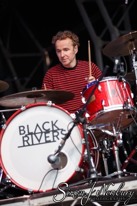 Black Rivers live at Summer in the City, Manchester. Former Doves musicians Jez Williams and Andy Williams live at Castlefield Bowl - Cheshire live music photography