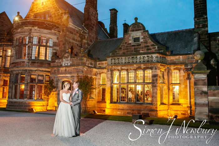 evening wedding photos in Cheshire