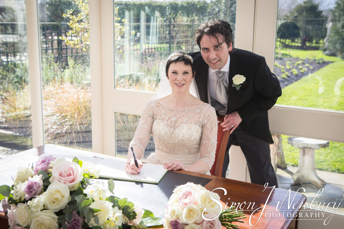 Wedding photography at in the Glasshouse