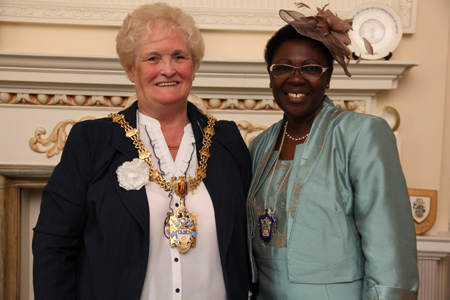 The Worshipful The Mayor of Crewe Councillor Peggy Martin & The Worshipful The Deputy Mayor of Crewe Councillor Irene Faseyi