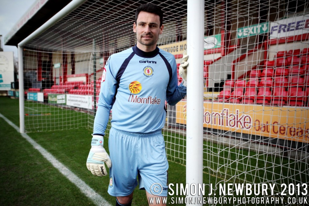 Portrait of Crewe Alexandra goalkeeper Steve Phillips