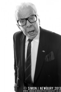 Portrait of Barry Cryer at Crewe Hall by Simon J. Newbury Photography