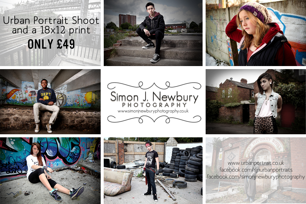 Urban Portraits private commissions by Simon J. Newbury Photography
