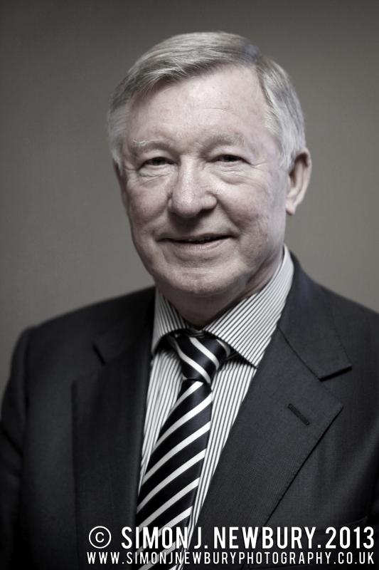 Sir Alex Ferguson Portrait Simon J. Newbury Photography Manchester United. Cheshire portrait photography
