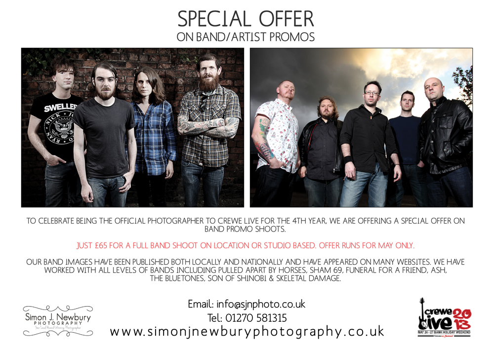 band, music, promo, photography, special, offer, Crewe, Live, Cheshire