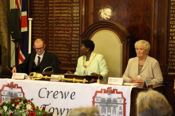 Cheshire press photography. Press photographer for Crewe, Cheshire. Mayor making in Crewe, Cheshire