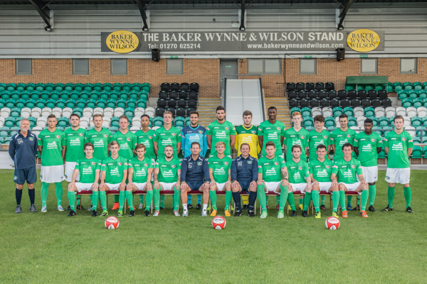 Press Photography: Nantwich Town Squad 2014-15. Cheshire press photography. Nantwich press photographer. The Dabbers press photography. Nantwich photography