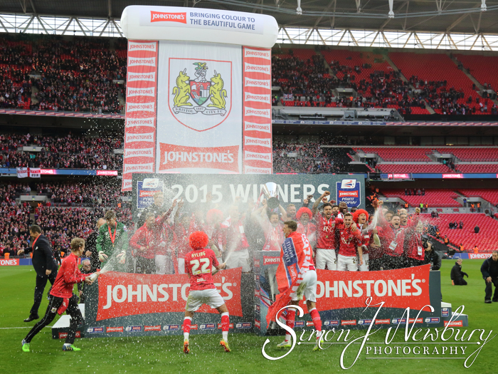Cheshire press photography: 2015 Johnstone's Paint Trophy final at Wembley Stadium, England. Bristol City beat Walsall 2-0 in the FA League Trophy final