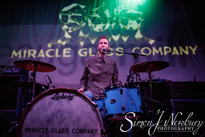 Stoke-On-Trent, Staffordshire, UK. 22nd April, 2016. Miracle Glass Company perform live at The Sugarmill.